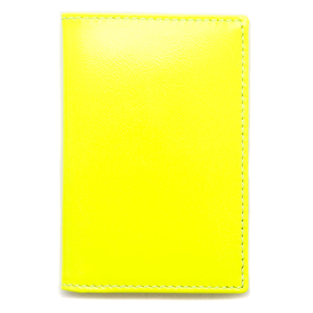 SA6400SFYEL Comme Des Garcons Super Fluo Leather Line Wallet / Yellow