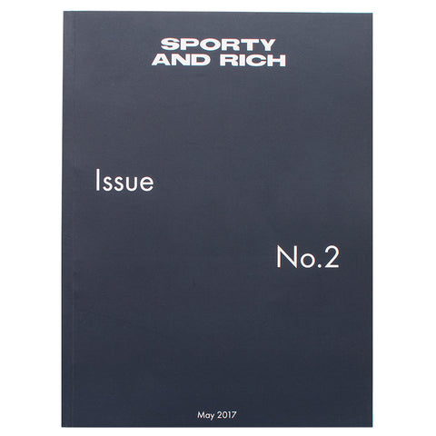 product code SRMAGISSUE2. SPORTY & RICH MAGAZINE ISSUE 2