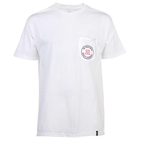 HUF BLOOD SWEAT BEERS T-SHIRT / WHITE - 1