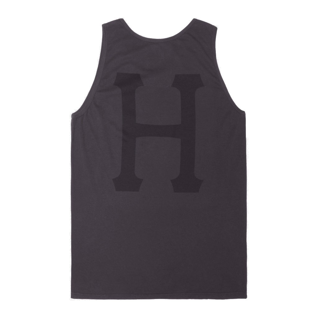 HUF GARMENT DYED CLASSIC H TANK / CHARCOAL - 2