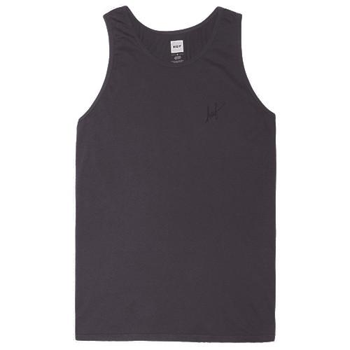 HUF GARMENT DYED CLASSIC H TANK / CHARCOAL - 1