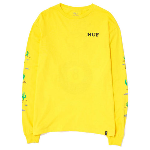 HUF SPIKE LS T-SHIRT / YELLOW