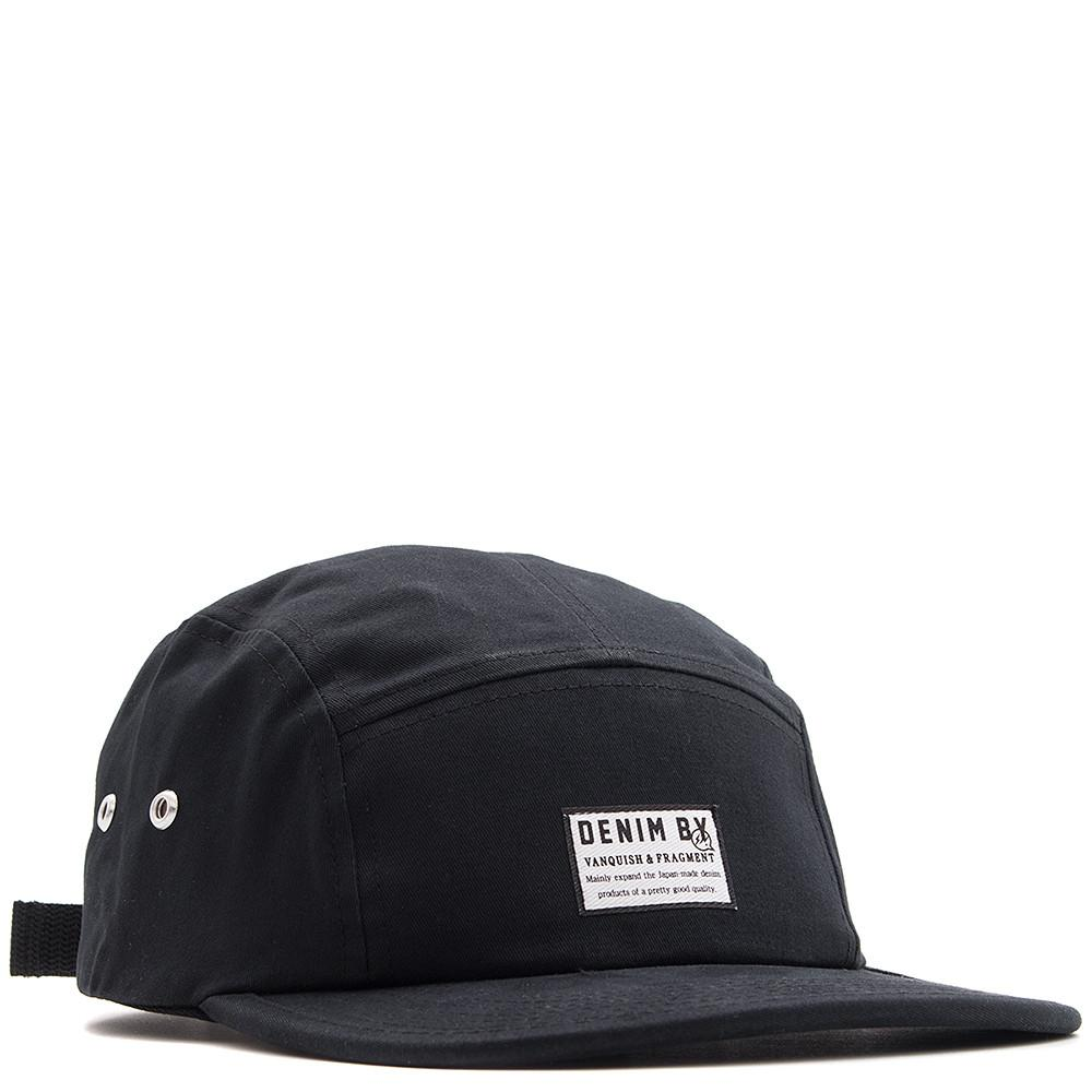 style code VFA061. DENIM BY VANQUISH & FRAGMENT 5 PANEL CAP / BLACK