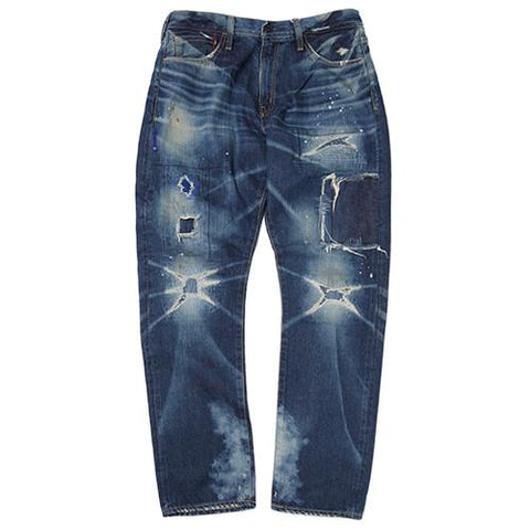 DENIM BY VANQUISH & FRAGMENT WIDE STRAIGHT 13OZ SELVEDGE DENIM / 5YR-WASH - 1