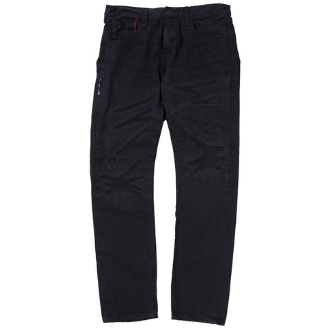 DENIM BY VANQUISH & FRAGMENT REGULAR STRAIGHT 13OZ SELVEDGE DENIM / BLACK - 1