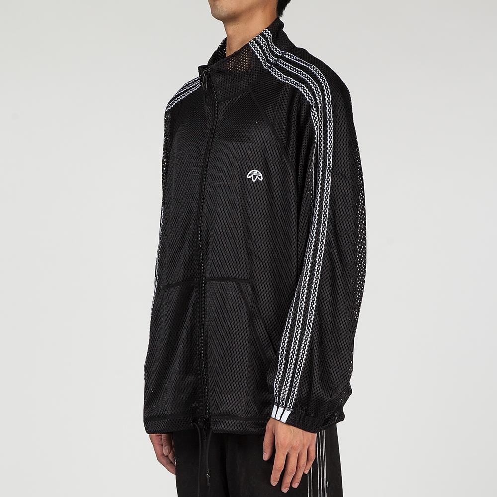 style code CV5045. ADIDAS ORIGINALS BY ALEXANDER WANG MESH TRACK TOP / BLACK