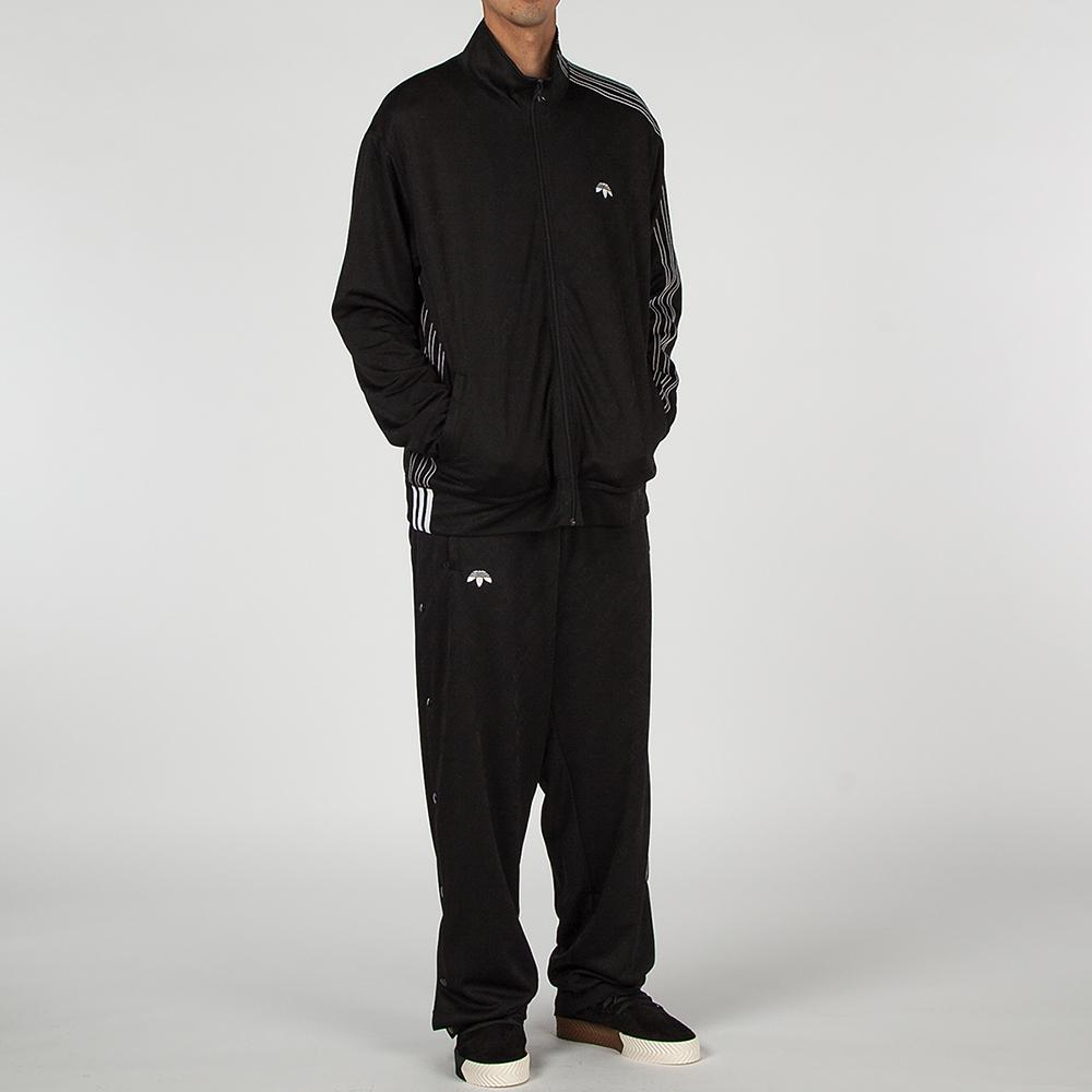 style code CV5259. ADIDAS ORIGINALS BY ALEXANDER WANG JACQUARD TRACK TOP / BLACK