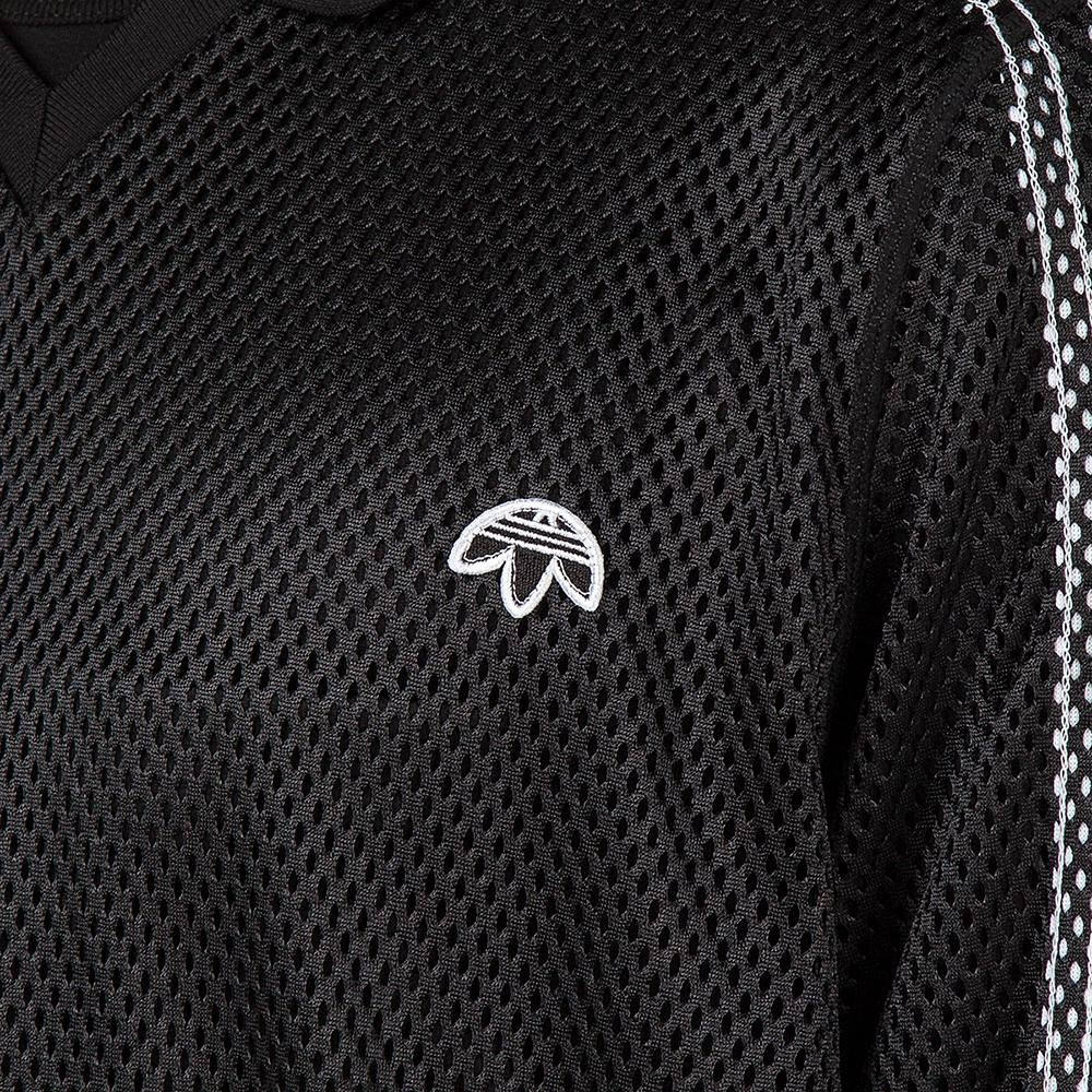 ADIDAS ORIGINALS BY ALEXANDER WANG MESH LONG SLEEVE POLO / BLACK