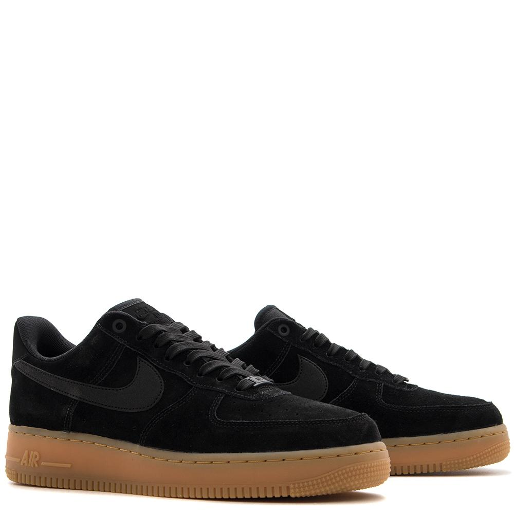 Style code AA1117-001. NIKE AIR FORCE 1 '07 LV8 SUEDE / BLACK