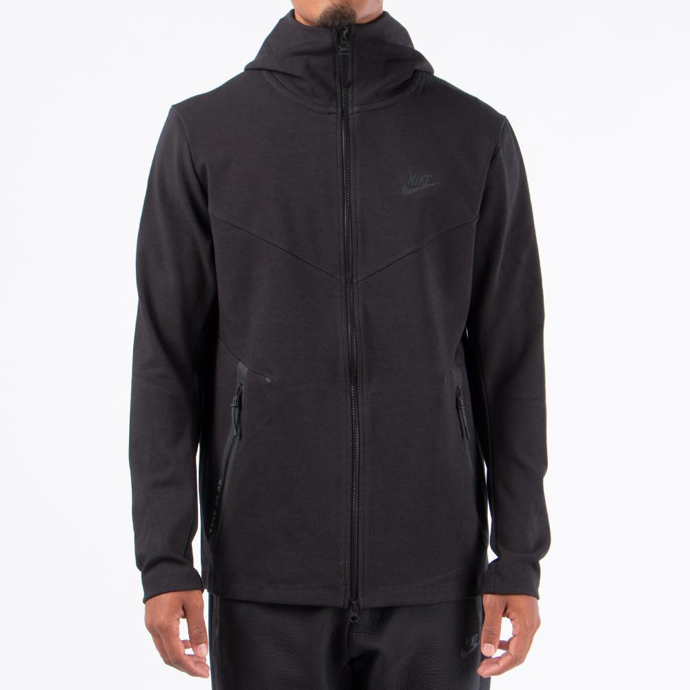 Style code AA3784-010. Nike Sportswear Tech Pack Zip Up Hoodie / Black