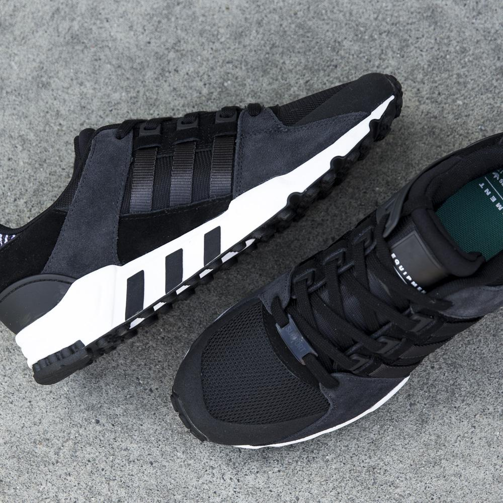 Adidas EQT Support 93/17 Black Milled Leather : Sneakers