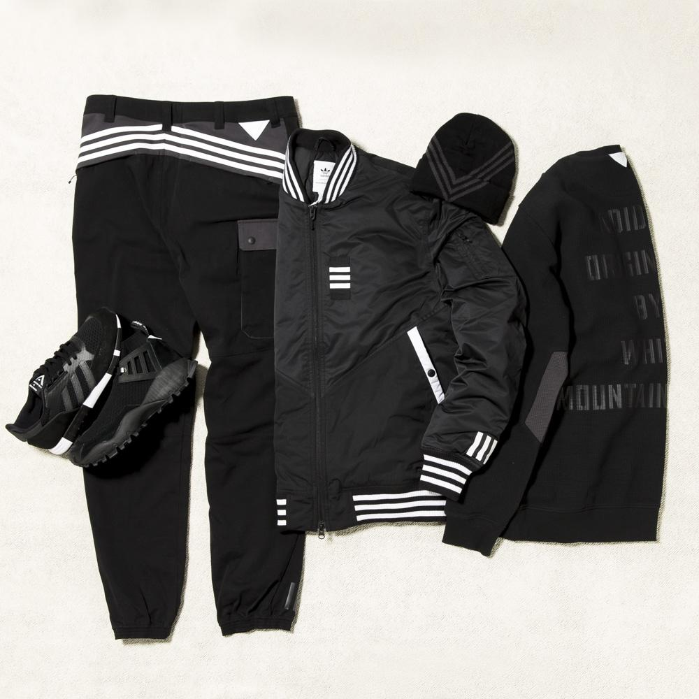 ADIDAS ORIGINALS BY WHITE MOUNTAINEERING WOVEN PANTS / BLACK