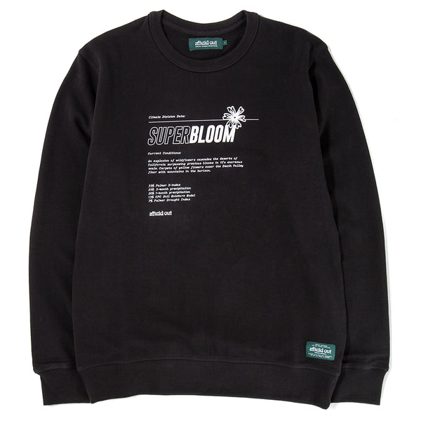 afield out Super Bloom Crewneck / Black - Deadstock.ca