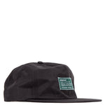 afield out Nylon Camper Hat / Black - Deadstock.ca
