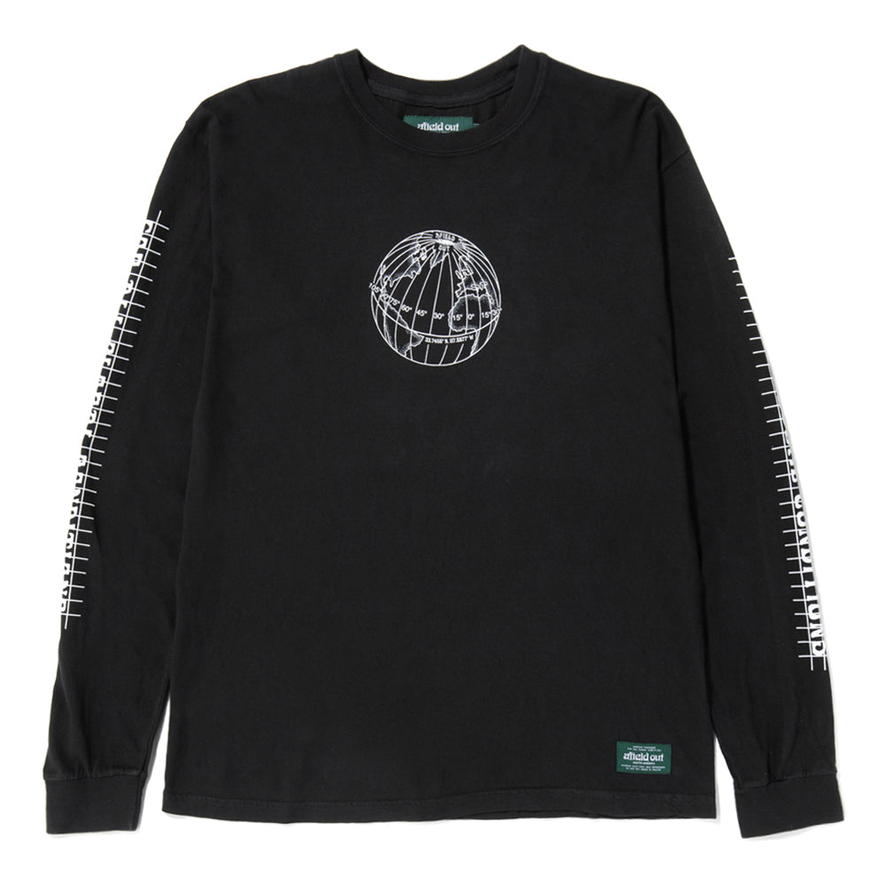 afield out Equator Long Sleeve T-shirt / Black