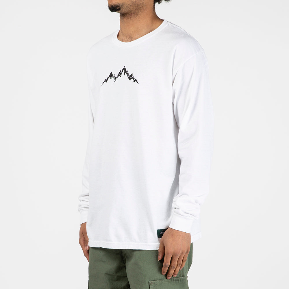 afield out Base Camp Long Sleeve T-shirt / White
