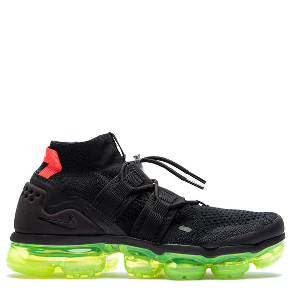 Style code AH6834-007. Nike Air Vapormax Flyknit Utility Black / Volt
