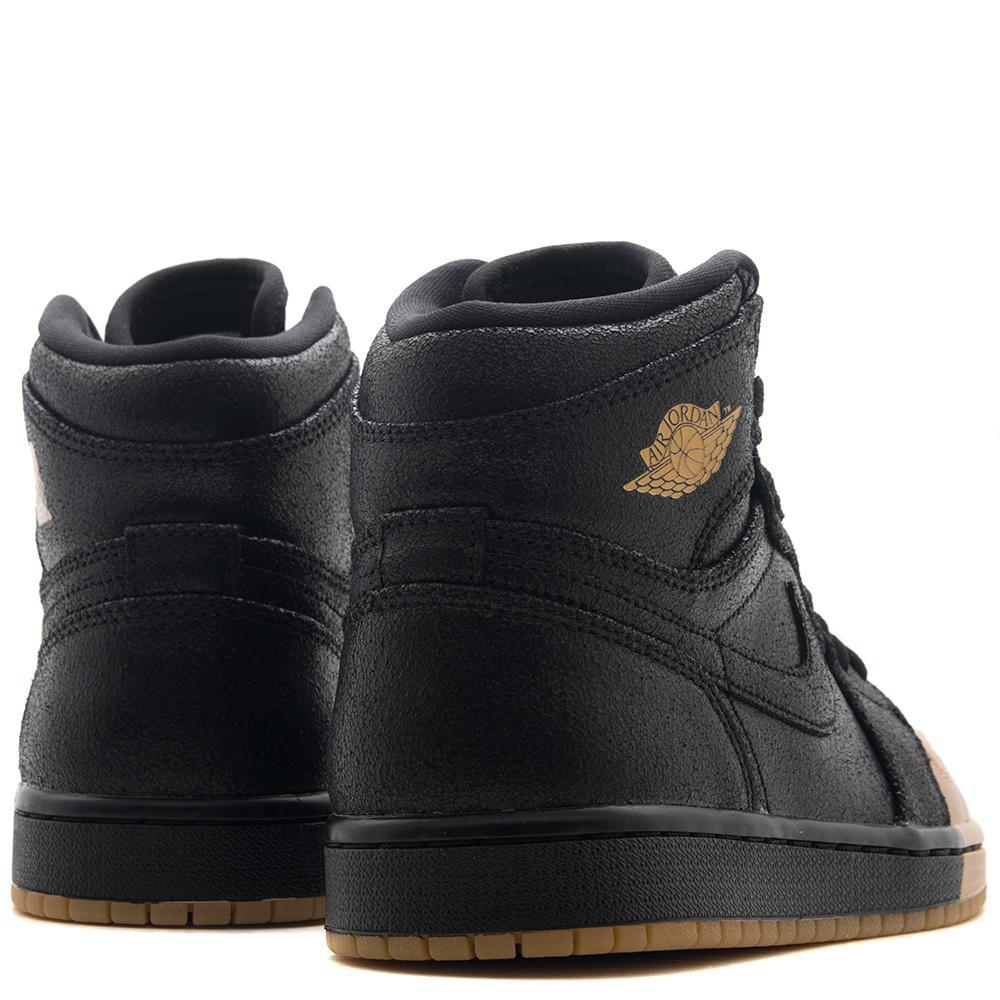 JORDAN WOMEN'S 1 RETRO HI PREMIUM BLACK / METALLIC GOLD