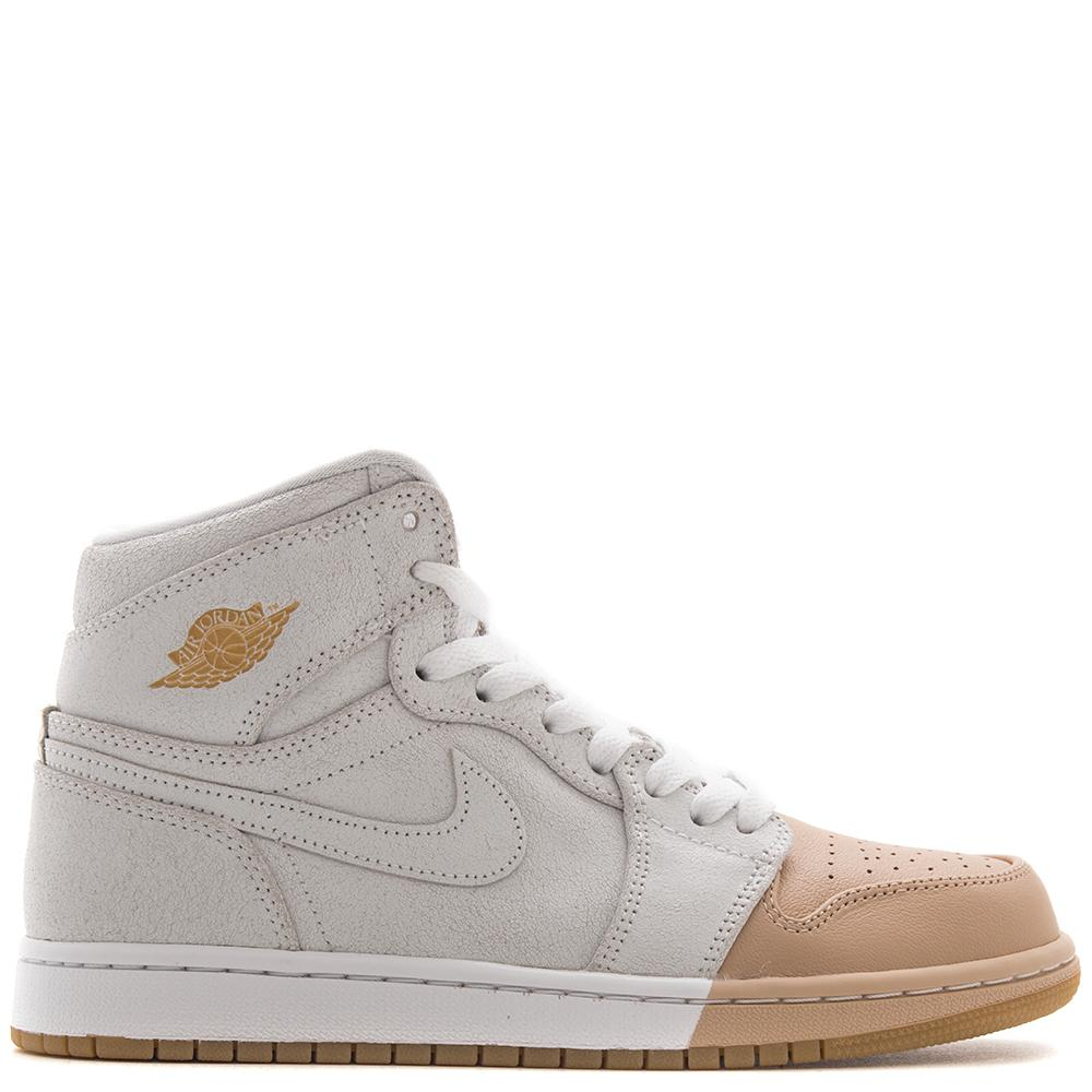 JORDAN WOMEN'S 1 RETRO HI PREMIUM WHITE / METALLIC GOLD