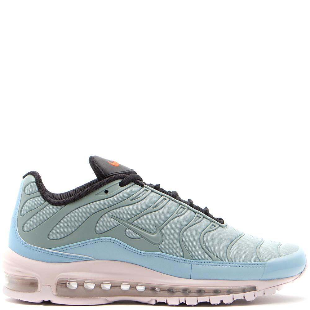 Style code AH8144-300. NIKE AIR MAX 97 PLUS MICA GREEN / BARELY ROSE