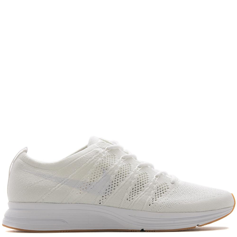 Style code AH8396-102. Nike Flyknit Trainer QS White / Gum Light Brown