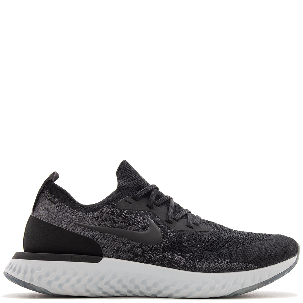 Style code AQ0067-001. Nike Epic React Flyknit Dark Grey / White