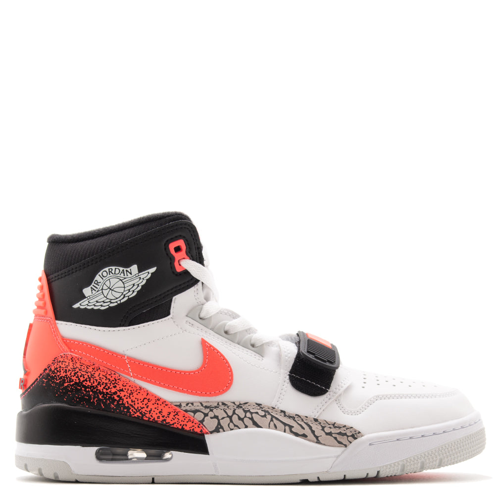 Style code AQ4160-108. Jordan x Just Don Legacy 312 Hot Lava / White