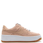 Nike Women's Air Force 1 Sage Low Beige / White