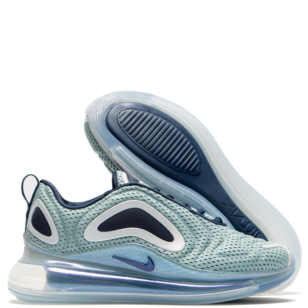 check out 57584 ea43f Nike Women's Air Max 720 Metallic Silver / Midnight Navy