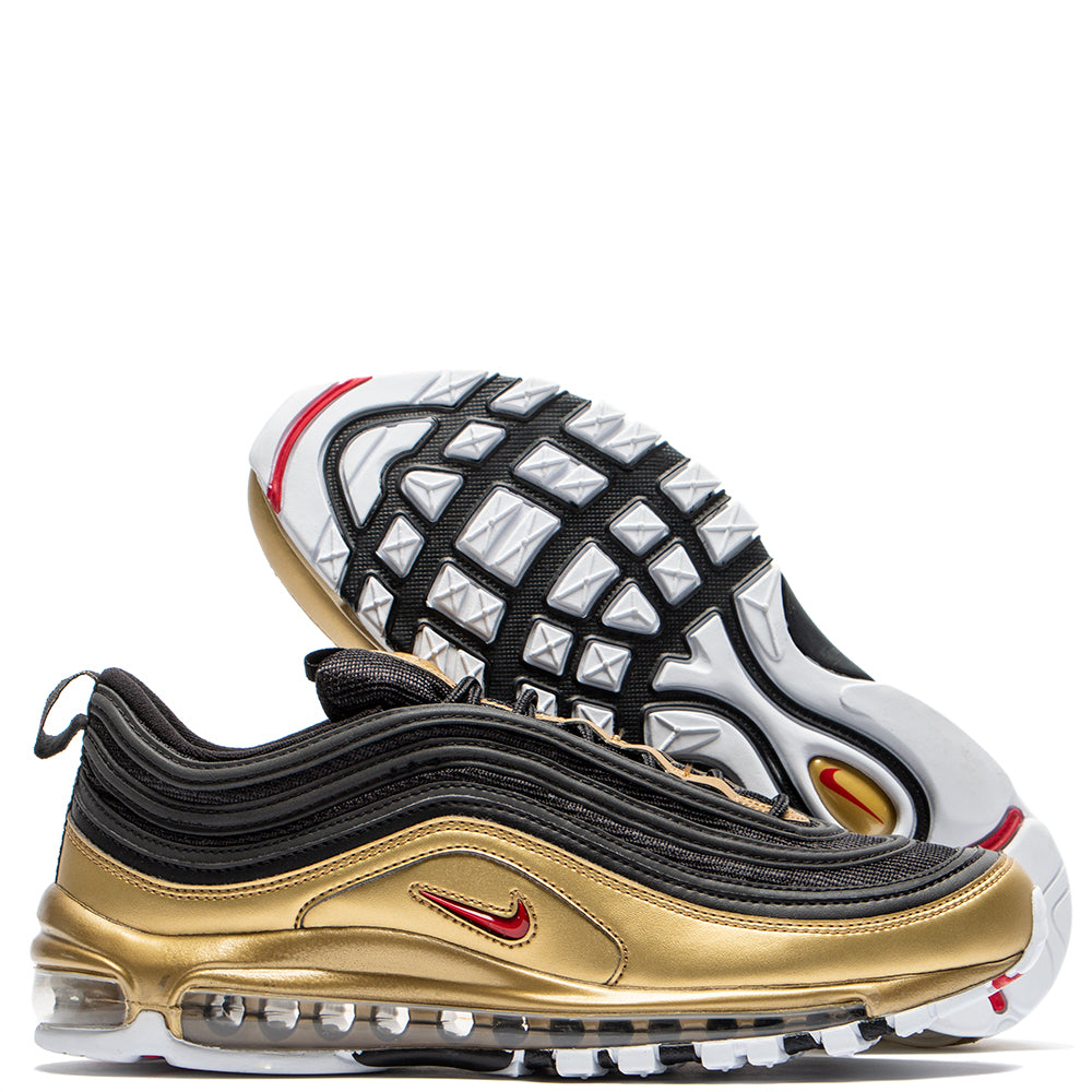 Style code AT5458-002. Nike Air Max 97 QS B-Side Black / Metallic Gold