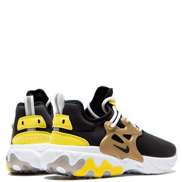 AV2605-001 Nike Presto React Black / Black - Yellow Streak