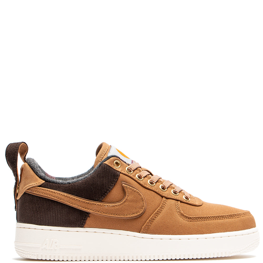 Style code AV4113-200. Nike x Carhartt WIP Air Force 1 '07 Premium / Ale Brown