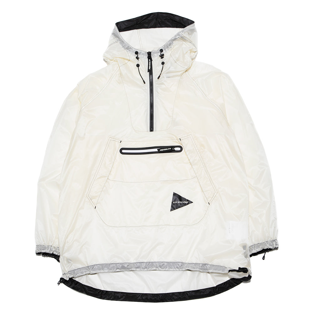AW91FT004 and wander Fly Rain Anorak Hoodie / Off White