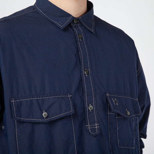 AW91FT072 and wander Cordura Typewriter Long Sleeve Shirt / Navy