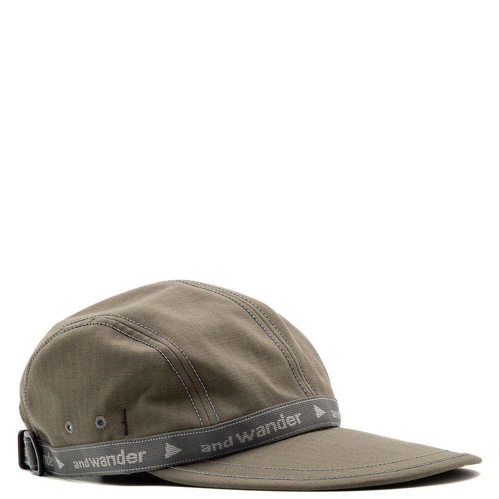 and wander Cordura Cotton Ripstop Cap / Khaki
