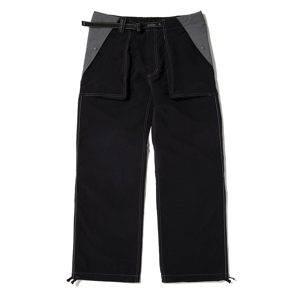 and wander Taslan Nylon Pants / Black