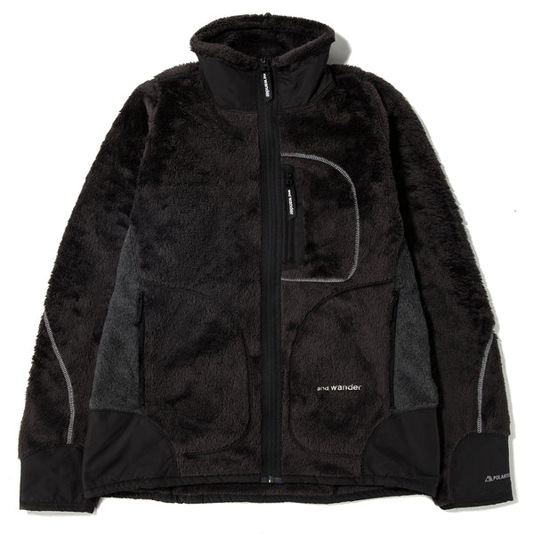 and wander High Loft Fleece Jacket / Charcoal