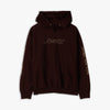 Awake NY Classic Outline Logo Paneled Embroidered Pullover Hoodie / Brown