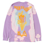 Born x Raised Warped Boardwalk Long Sleeve T-shirt / Lavender