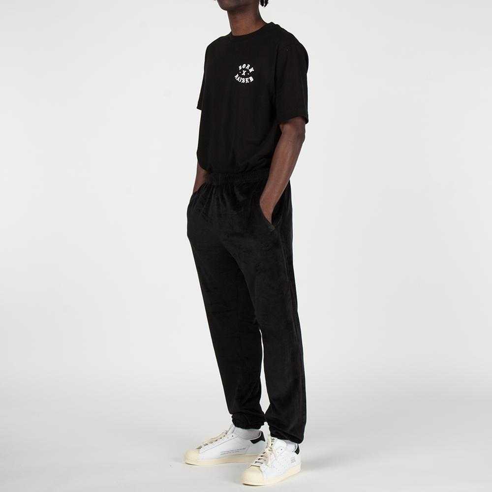 Style code B2004VELUR. Born x Raised Velour Sweatpants / Black