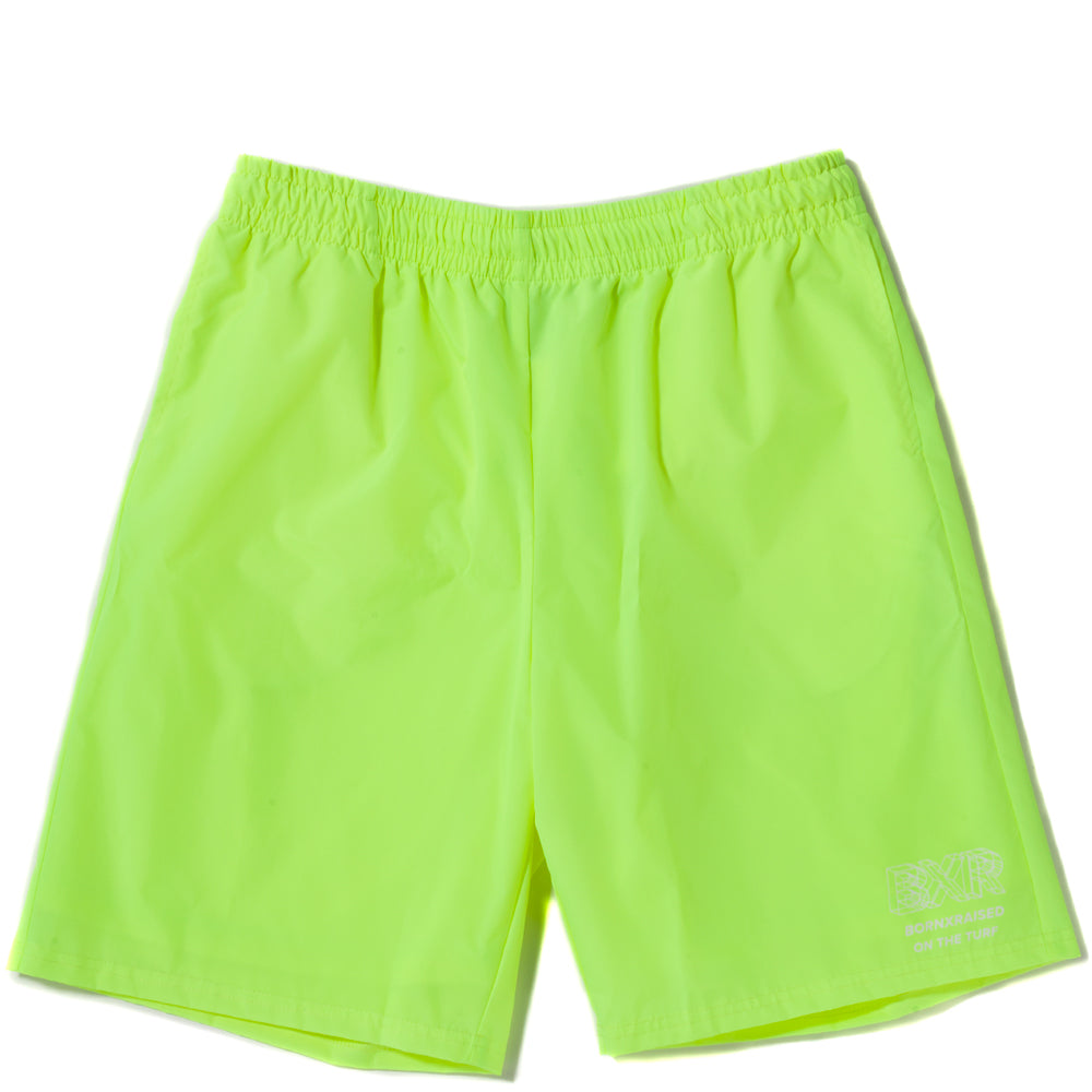 Style code B2009WIRFNEGN. Born x Raised Wireframe Shorts / Neon Green