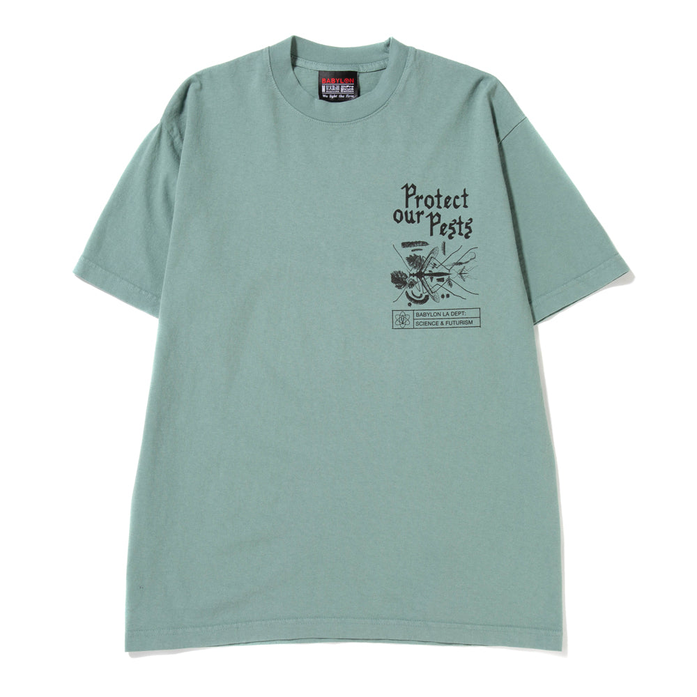 Babylon Pests T-shirt / Atlantic Green
