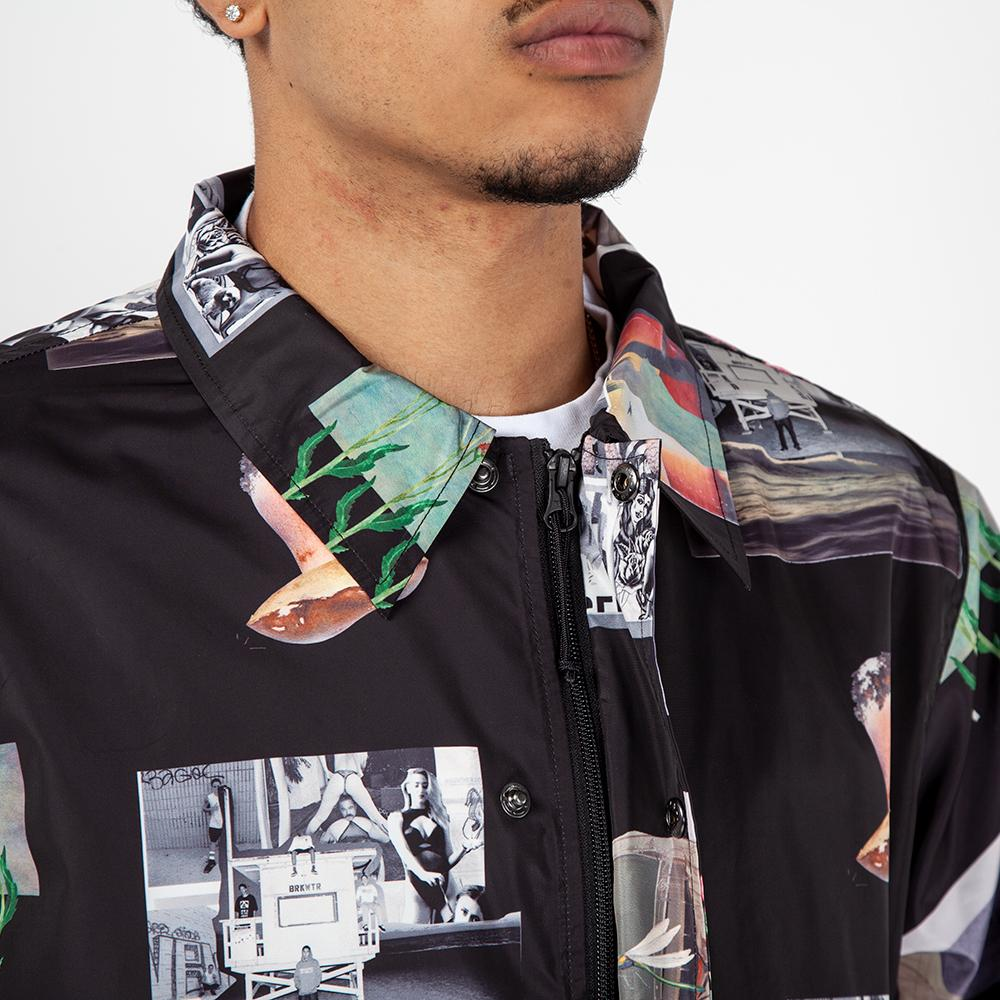 B3007ASCH Born x Raised After School Coaches Jacket / Black