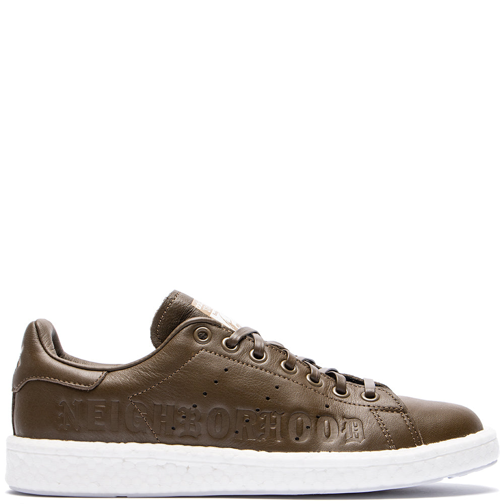 Style code B37342. adidas Originals by NEIGHBORHOOD Stan Smith / Trace Olive