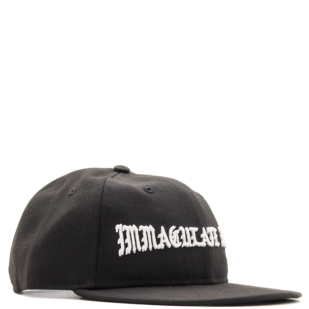 Style code B5000IMHRTBLK. Born x Raised Immaculate Heart Strapback / Black