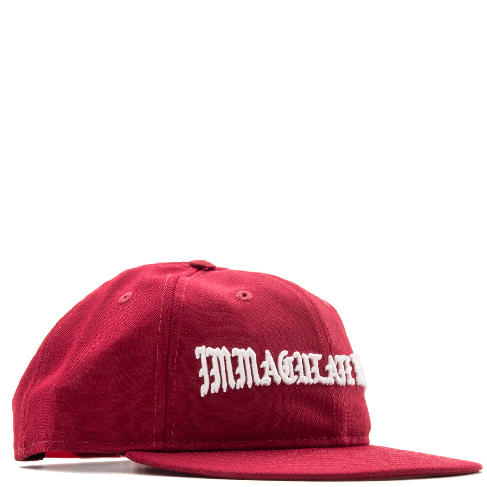 Style code B5000IMHRTBUR. Born x Raised Immaculate Heart Strapback / Burgundy