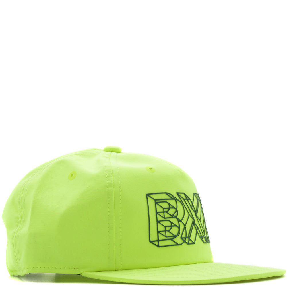 Style code B5000WIRFNEBK. Born x Raised Wireframe Nylon Hat / Neon Green
