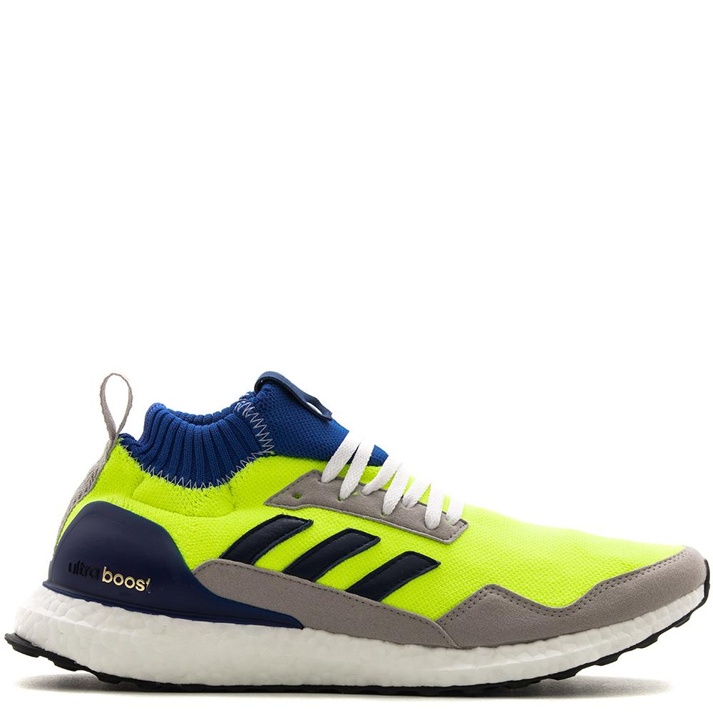 Style code BD7399. adidas Consortium Workshop UltraBoost Mid Proto / Solar Yellow