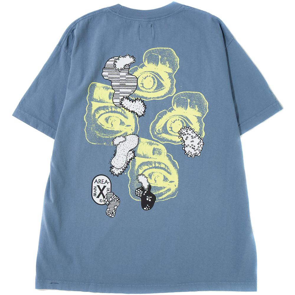 Style code BDD814. BRAIN DEAD VIRAL T-SHIRT / WASHED BLUE