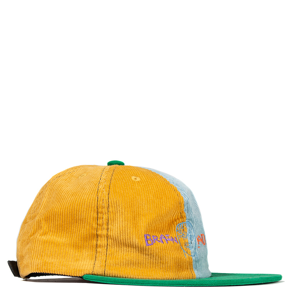 Brain Dead Colour Blocked Strapback Cap Yellow / Teal - Deadstock.ca